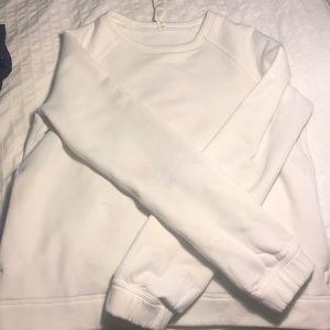 Lululemon White Pullover Sweatshirt